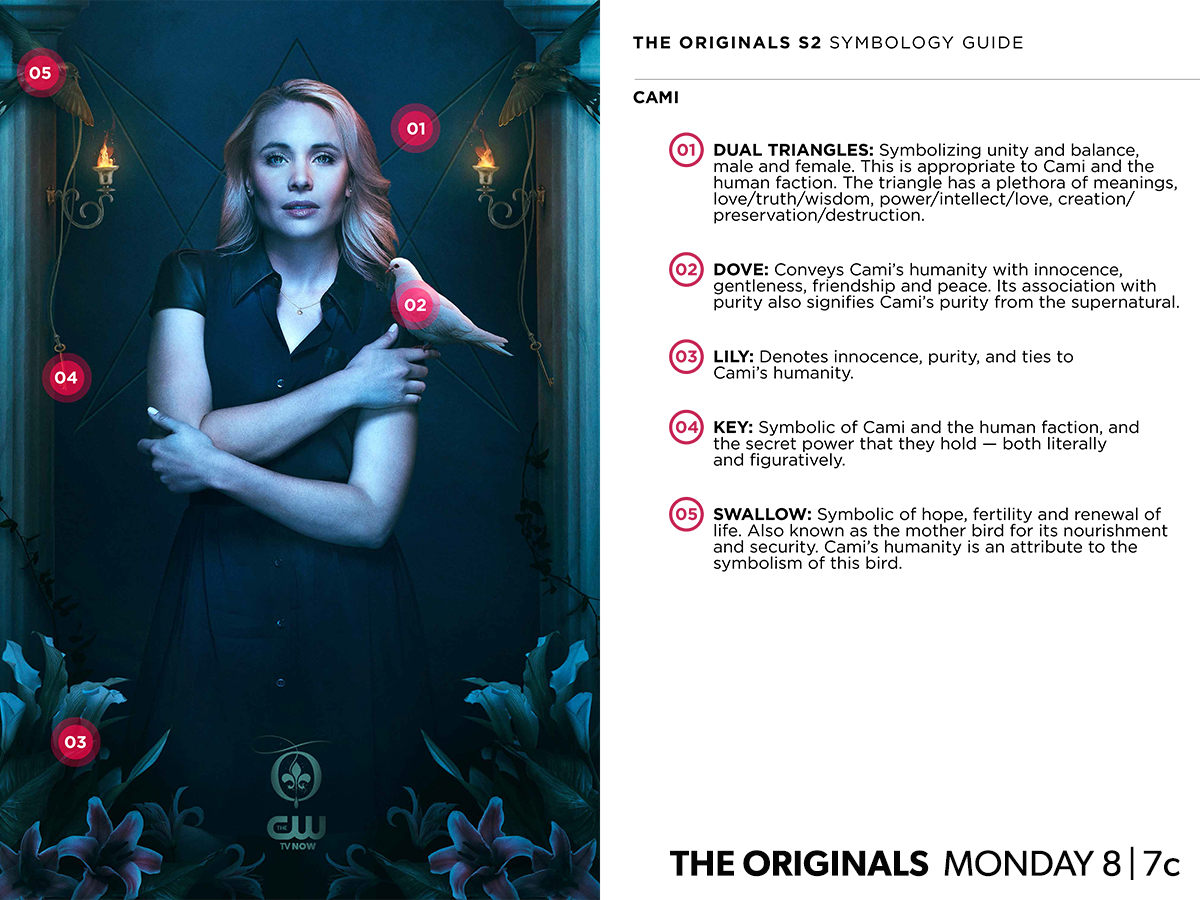 The_Originals_CW_Poster_saison2 Cami symboles