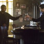 "The Originals -- ""The Feast Of All Sinners"" -- Image Number: OR413b_0127.jpg -- Pictured (L-R): Charles Michael Davis as Marcel and Steven Krueger as Josh -- Photo: Bob Mahoney/The CW -- © 2017 The CW Network, LLC. All rights reserved."